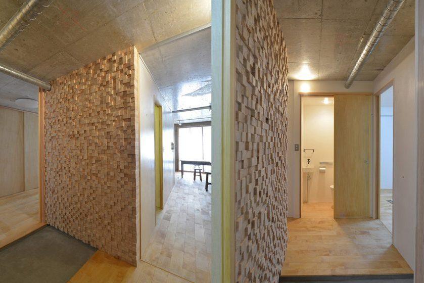 漆喰と木の室-F邸